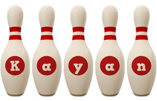 Kayan bowling-pin logo