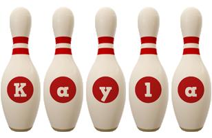 Kayla bowling-pin logo