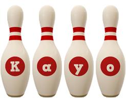 Kayo bowling-pin logo