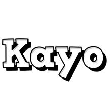 Kayo snowing logo