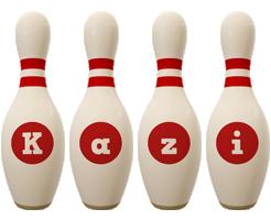 Kazi bowling-pin logo