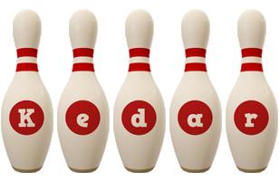 Kedar bowling-pin logo
