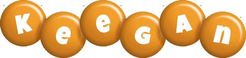 Keegan candy-orange logo