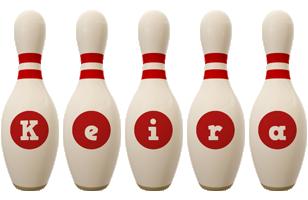 Keira bowling-pin logo