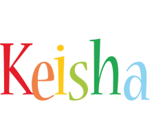 Keisha birthday logo