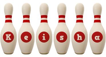Keisha bowling-pin logo