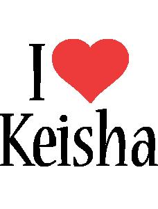 Keisha i-love logo