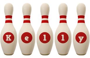 Kelly bowling-pin logo