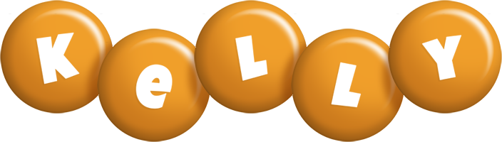 Kelly candy-orange logo