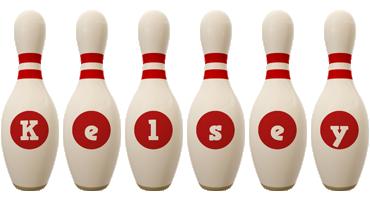 Kelsey bowling-pin logo