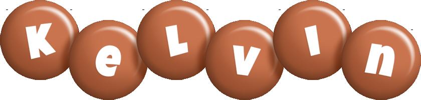 Kelvin candy-brown logo