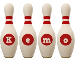 Kemo bowling-pin logo