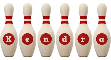 Kendra bowling-pin logo