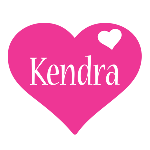 Kendra love-heart logo