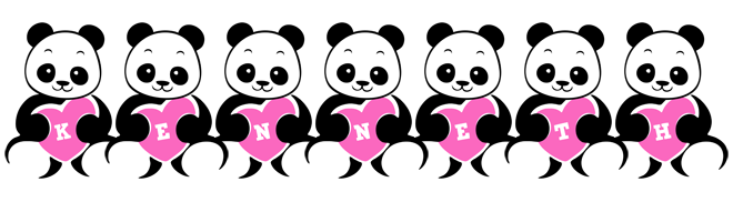 Kenneth love-panda logo