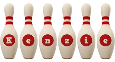 Kenzie bowling-pin logo