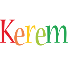 Kerem birthday logo