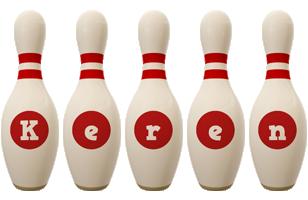 Keren bowling-pin logo