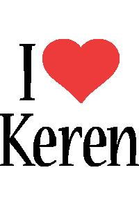 Keren i-love logo