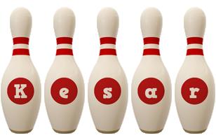 Kesar bowling-pin logo