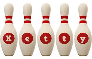 Ketty bowling-pin logo