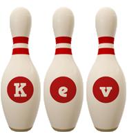Kev bowling-pin logo