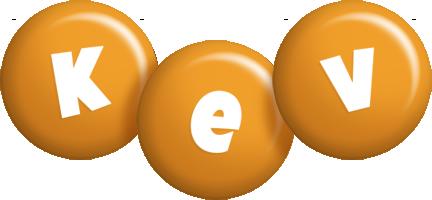 Kev candy-orange logo