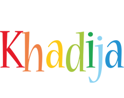 Khadija birthday logo