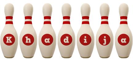Khadija bowling-pin logo