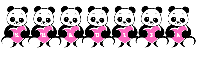 Khadija love-panda logo