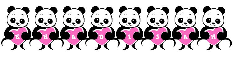 Khadijah love-panda logo