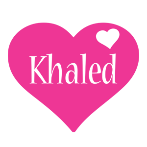 Khaled love-heart logo