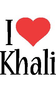 Khali i-love logo