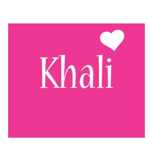 Khali love-heart logo