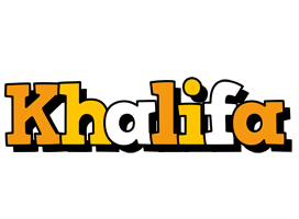 Khalifa cartoon logo