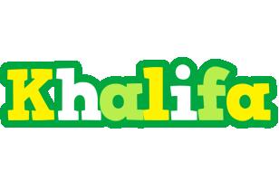 Khalifa soccer logo
