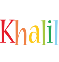Khalil birthday logo