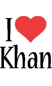 Khan i-love logo