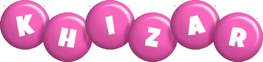 Khizar candy-pink logo