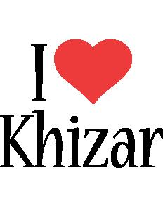 Khizar i-love logo