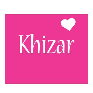 Khizar love-heart logo