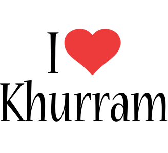 Khurram i-love logo