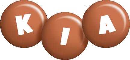 Kia candy-brown logo