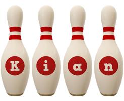 Kian bowling-pin logo