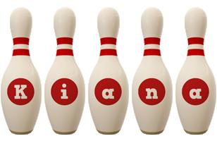 Kiana bowling-pin logo