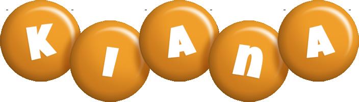 Kiana candy-orange logo