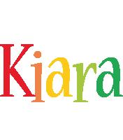 Kiara birthday logo