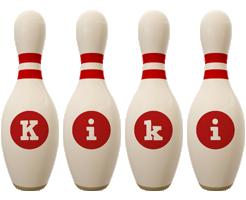 Kiki bowling-pin logo