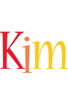 Kim birthday logo