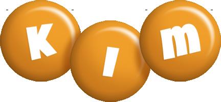 Kim candy-orange logo